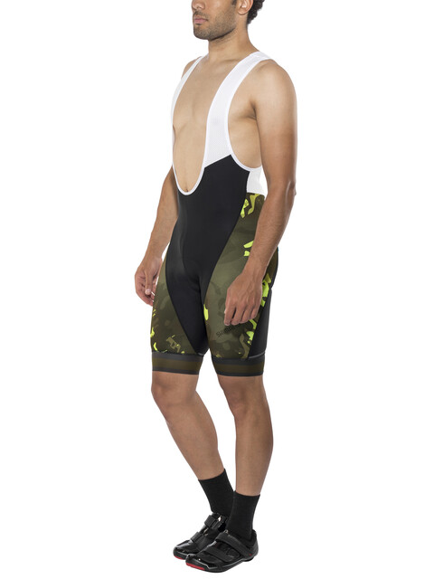 Shimano Breakaway Bib Shorts Men Neon Lime